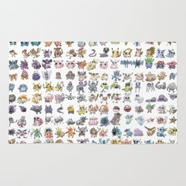 Pokémans! 151 Lazy-Drawn Pocket Monsters ( Rug