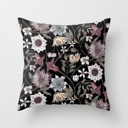colorful floral pattern II Throw Pillow
