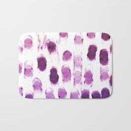 Purple Watercolor Brush Strokes Pattern Bath Mat