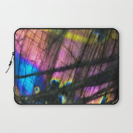 Labradorite and All it's Colors Blue Pink Yellow Purple Flash Magic Vibrant Abundance Laptop Sleeve