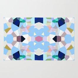 Gemstones in Kaleidoscope on Sky Blue Rug