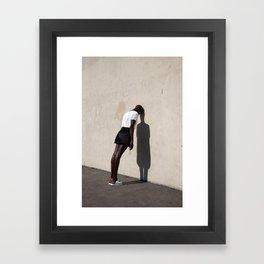 Leaning Framed Art Print