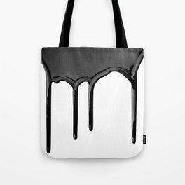 Black paint drip Tote Bag