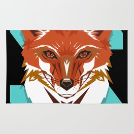 Red Fox GeoDesign - Artwork by Brandon F. Ottenbacher Rug