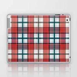 Colorful red grey plaid . Laptop & iPad Skin