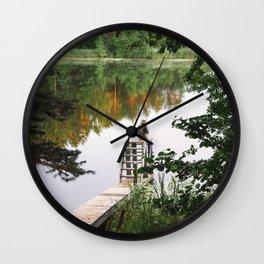Camp Lake Wall Clock