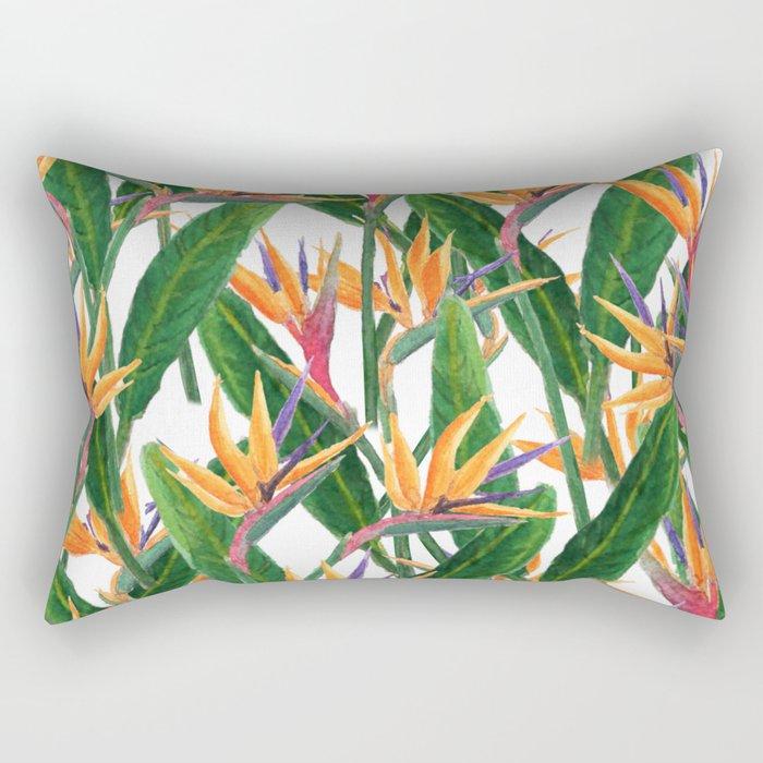 bird of paradise pattern Rectangular Pillow