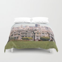 The Painted Ladies Duvet Cover