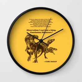Conclusion: Dinosaurs (Color) Wall Clock