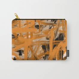 Orange & Taupe Abstract Carry-All Pouch