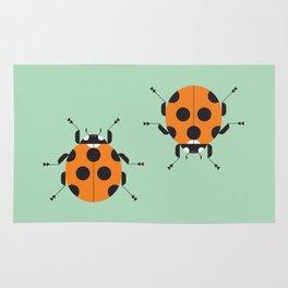 Lady Bug Green Rug