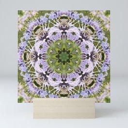 Lacy Lavender Wild Bergamot Kaleidoscope Mini Art Print