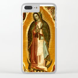 Our Lady Virgin of Guadalupe Virgin Mary Holy Blessed Maria Christmas Gift Religion Clear iPhone Case