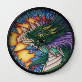 Forest Dragon Wall Clock
