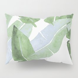 Tropical Leaves 2 Blue And Green Pillow Sham