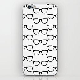 Black Funky Glasses iPhone Skin
