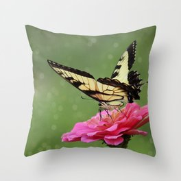 Bokehs and Butterflies Throw Pillow