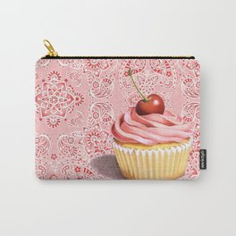 Pink Cupcake Paisley Bandana Carry-All Pouch
