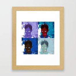 4 faces Framed Art Print