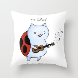 Catbug! by Maria Piedra Throw Pillow