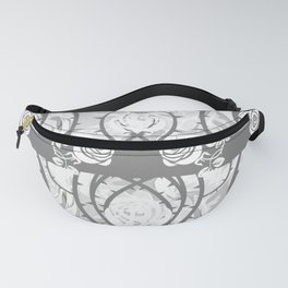 roses need thorns vector art white Fanny Pack
