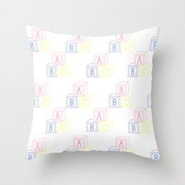 Alphabet Blocks Throw Pillow