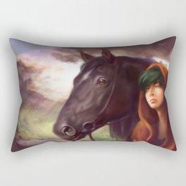 A Boy and His Horse Rectangular Pillow
