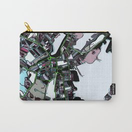 Abstract Map- Salem MA Carry-All Pouch