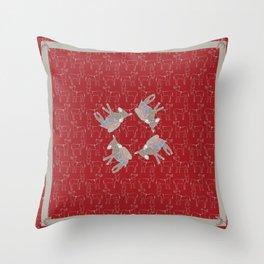 © Litte Burro Wild West Red Throw Pillow