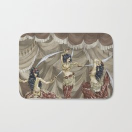 Midnight Circus: Sword Dancers Bath Mat