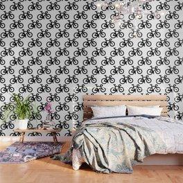 Black Bikes Pattern Wallpaper