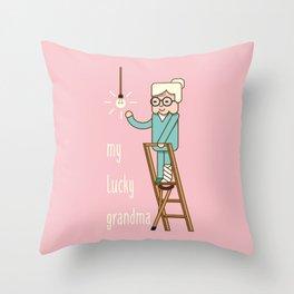 My lucky grandma Throw Pillow