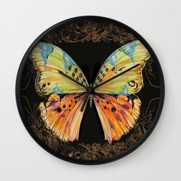 Spanish Butterfly Wall Clock