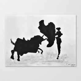 Bulls and bullfighters of Picasso I Canvas Print