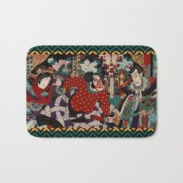 Kabuki Samurai Warriors Bath Mat