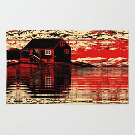 House on the Fjord Rug