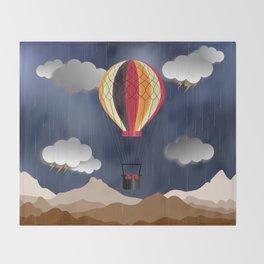 Balloon Aeronautics Rain Throw Blanket