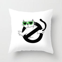 Cat Thug Buster | Digital Art Throw Pillow