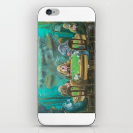 Pinnipeds Playing Poker iPhone Skin
