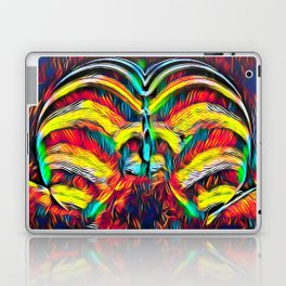 1349s-MAK Abstract Pop Color Erotica Explicit Psychedelic Yoni Buns Laptop & iPad Skin