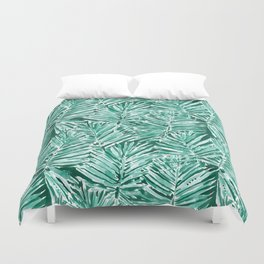ON VACAY Green Palm Leaves Duvet Cover