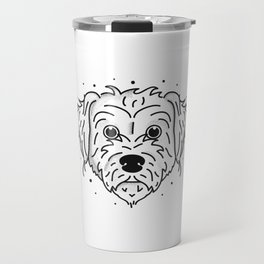 Doodle- black and white Travel Mug
