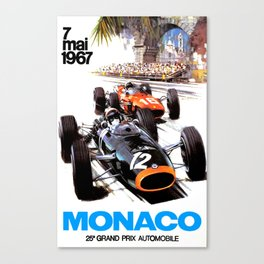 Monaco 1967 Grand Prix Canvas Print