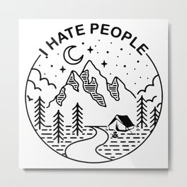 hate people merch Metal Print