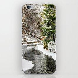 The Riverwalk in Winter iPhone Skin