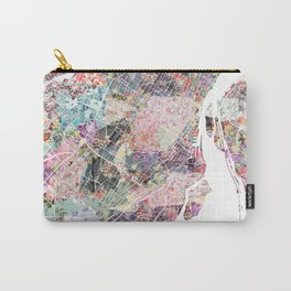 Montreal map canada Carry-All Pouch
