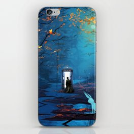 Tardis And The Doctor Lost In The Forest iPhone Skin