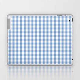 Classic Pale Blue Pastel Gingham Check Laptop & iPad Skin