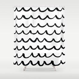 On the Same Wavelength Shower Curtain
