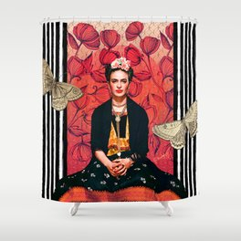 Frida enamorada Shower Curtain